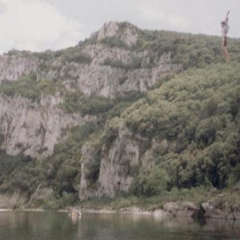 Cliff Jumping in the Ardeche - 1990 - A summer of hard work and lots of fun!