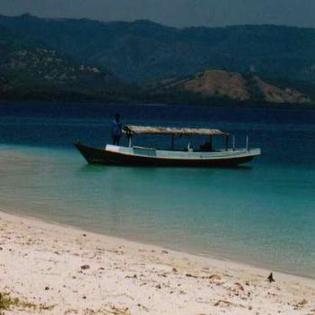 We took this boat to go snorkelling, Riung, Flores