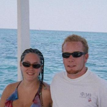 My hubby and I on our honeymoon in jamaica - Heather (yes i had to get my hair braided lol)