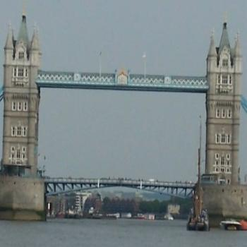 London Bridge from Thames River
