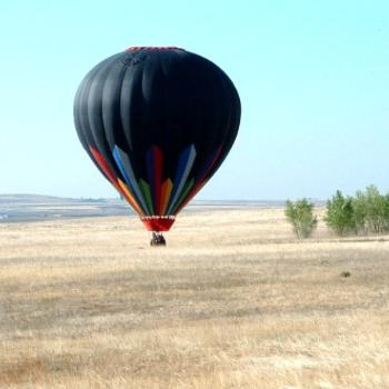 Balloon Landing in Erie, CO