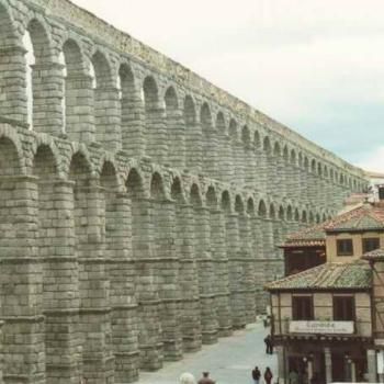 Roman aquaduct in Segovia, Spain