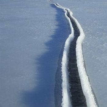Tide Crack in Sea Ice, Antarctica