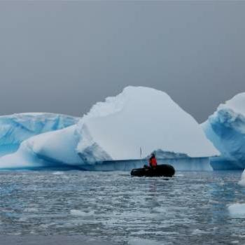 Zodiac and Ice, Antarctica - Linda/Pioneer