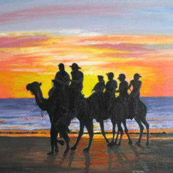 One of my paintings at Cable Beach in Broome - Wendy/Perth