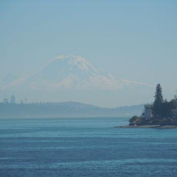 Mt. Rainier from the ferry ~ WA state