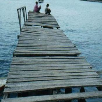 Wobbly jetty, Riung, Flores, Indonesia