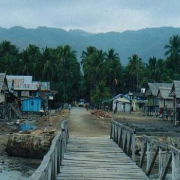 Looking from Riung jetty to the village