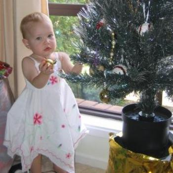 Laura and the christmas tree